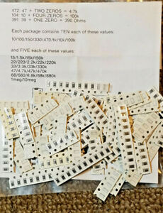 400pc Smd 1206 Resistor Assortment New ships From Texas Usa