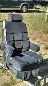 1996 Chevy Express Van Seats 2 Buckets 1 Rear Electric Folding Seat Bed Gray