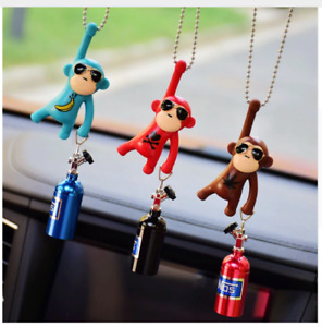 Car Interior Hanging Monkey Truck Pendant Decoration Rear View Mirror Accessorie