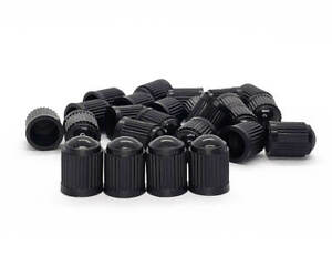 Black Tire Valve Stem Caps Plastic