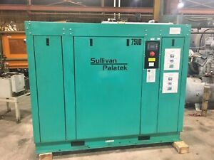 Sullivan Palatek 75 Hp Screw Compressor 75ud