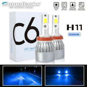 H8 H9 H11 8000k Blue Light Cob Led Headlight 100w 20000lm Low Beam Fog Bulbs Us