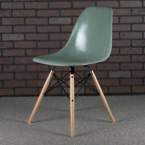 Eames Dsw Shell Chairs For Herman Miller Seafoam Green