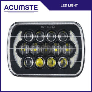 7x6 5x7 105w Led Headlight Drl Hi lo Beam For Chevrolet Jeep Cherokee Ford