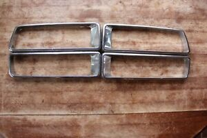74 78 Datsun 260z 280z Taillight Chrome Trim Pair Oem Used