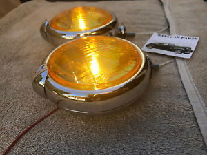 New Small Of 12 Volt Amber Vintage Style Fog Lights With Fog Cap On Lights