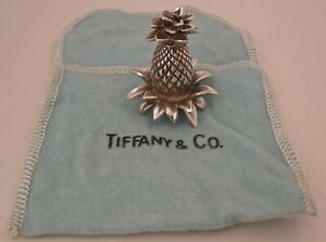 Tiffany Sterling Silver Figural 3 D Pineapple Place Card Holder In Original Bag