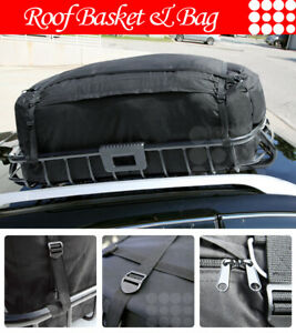 Fit Jeep Car Roof Top Basket Travel Luggage Carrier Cargo Extension Rack Bag
