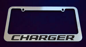 1 Dodge Charger License Plate Frame Custom Made Of Chrome 1 Frame