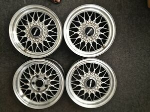 4 Mazda Rx7 Rx 7 Bbs 15x6 5 Jjx15 40 Aluminum Factory Alloy Wheels Center Caps