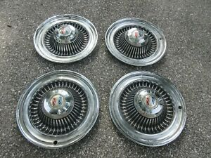 Vintage 1960 s 1970 s Buick 14 Inch Hubcaps Wheel Covers 4 Set