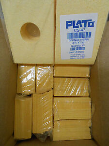 Plato Cs 47 Solder Tip Cleaning Sponge With Center Hole 10 Packs Of 10 New