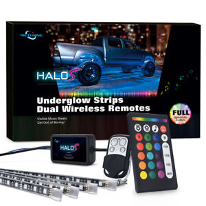 4pc 12v Rgbw Led Underglow Lighting Kit Car Truck Suv Music Underbody Neon Strip