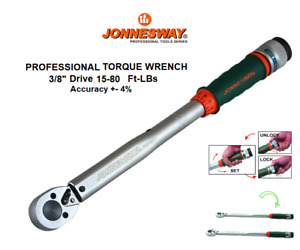 Jonnesway T07080f Professional 3 8 Micrometer Torque Wrench 15 80 Ft Lbs