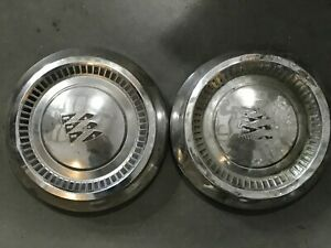 2 pc Vintage Buick Poverty Dog Dish Center Cap 10 1 2 1961 1963