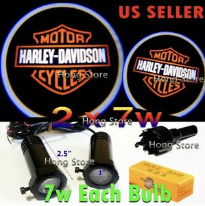 Lumenz Led Ghost Shadow Lights Door Logo Projectors Harley Davidson Bike Or Car