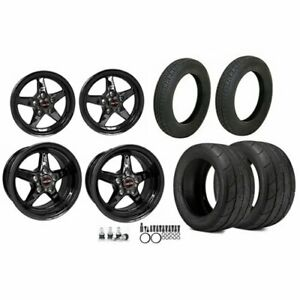 Race Star Wheels 92 Afxdark 92 Series Drag Star Wheel And Tire Kit Includes 2