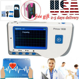 Handheld Colorlcd Ecg Ekg Machine Heart Monitor Electrocardiograph With Software