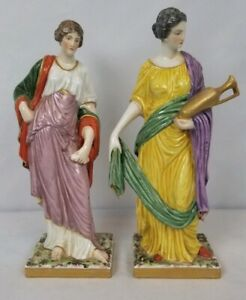 Pair Of Antique Capodimonte Ginori Porcelain Figurines 8 5