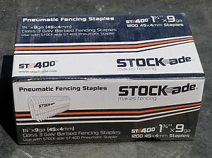 Stock ade St 400 Pneumatic Staples 1 3 4 Box Of 1200
