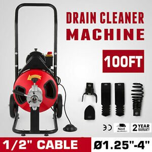 100ft 3 8 Electric Drain Auger Drain Cleaner Bathtub Powerful Flexible Updated