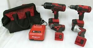 Snap On Lot Of 4 Tools Ct8850 Impact Cdt8815 Drill Driver Ct8810 Impact
