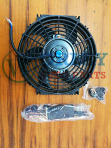 Universal 16 Inch 12v Volt Electric Cooling Fan Thermo Fan Mounting Kits S