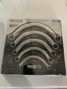 Matco Tools 5 Pc Sae Double End Half Moon Wrench Set Smh5t 7 16 15 16