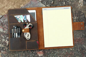 Vintage Leather Notepad Holder Tops Legal Pad Writing Pads 8 5 X 11 75 Portfolio