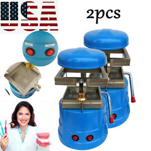 2x Dental Vacuum Forming Molding Machine Former Heat Thermoforming Equipment us