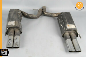 03 06 Brabus W220 S65 S55 Cl65 Amg Exhaust Muffler Quad Tips Left And Right