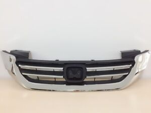Fit For 2013 2015 Honda Accord Sedan Front Upper Grill Chrome Grille With Logo