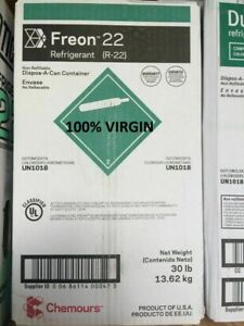 Dupont Chemours R22 Refrigerant 30 Lb Virgin Usa Local Pickup Only