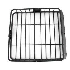 Cargo Basket Fit Jeep Roof Top Storage Cross Bar Mount Carrier Rack Heavy Duty