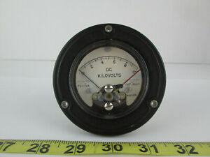 New Old Stock Assembly Products D c Kilovolts Meter Gauge Model 355 0 10