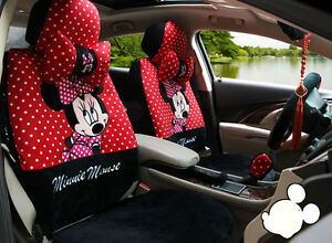 2019 New Red Cartoon Mickey Mouse Car Seat Cover Seat Covers Car Covers 1 Sets
