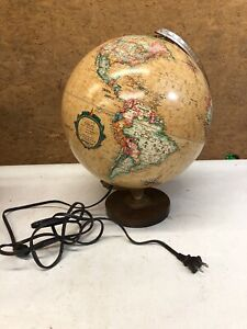 Vtg Replogle 12 World Horizon Series Light Globe Lamp Illuminated Working