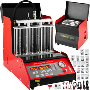 6 Cylinder Cnc602a 110v Ultrasonic Fuel Injector Cleaner Tester Us Stock