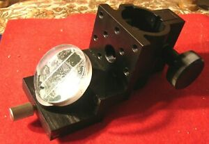 Melles Griot 07dsr511 Optical Rod Clamp With 45 Deg Rotating Mirror Attachment