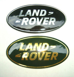 Land Rover 86 X 44mm Black Silver Or Green Gold Oval Emblem With Sticky Back