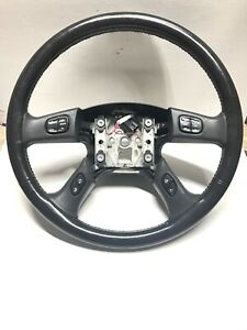 03 06 Chevrolet Tahoe Suburban Yukon Escalade Steering Wheel Black Leather