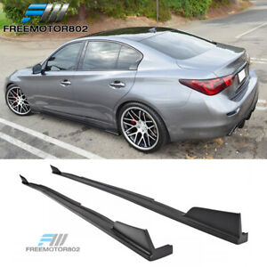 Fits 14 19 Infiniti Q50 St Style Side Skirts Kits Trims 2 Pieces Polyurethane