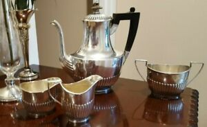 Sterling Silver Gorham A3180 1 7 8 Pint Coffee Tea Pot With Sugar And Creamers