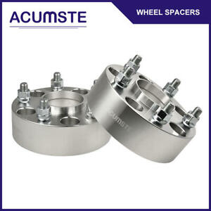 2pc 2 inch 5x5 Hubcentric Wheel Spacers For Jeep Jk Jku Wrangler Grand Cherokee