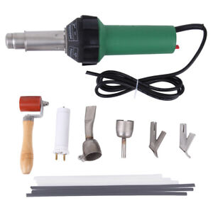 1600w Hot Air Torch Gun Plastic Welding Heat Welder Pistol Kit W nozzles 110v