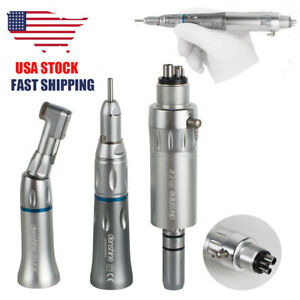 Wrench Type Dental Slow Low Speed Handpiece Complete Kit Set 4 Holes E type 4h