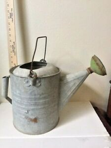Collectibles Home Garden Watering Can Galvanized W Brass 1900 1940 Usa