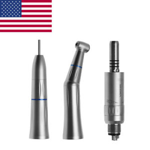 Dental Low Speed Handpiece Inner Straight Contra Angle Air Motor 4 h Fit Nsk Uql