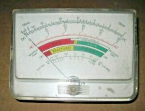 Mercury Model 300 A 301 Combination Tube Tester Panel Meter Tested
