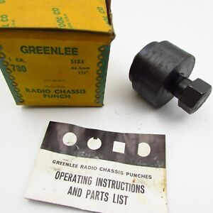 Vintage Greenlee No 730 1 3 4 Radio Chassis Punch Knockout Made In Usa